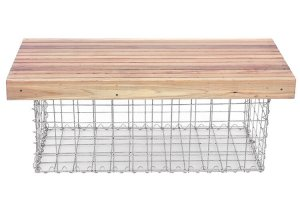 gabion bench, gabion furniture, gabion table